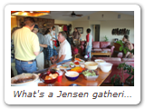 What's a Jensen gathering without food